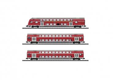 Trix 15824  Doppelstockwagen-Set  DB mit Innenbeleuchtung