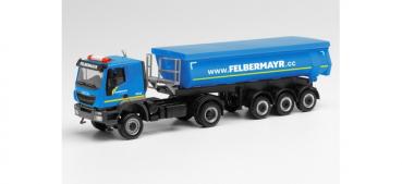Herpa 312875  Iveco Trakker 4x4 Rundmulden-Sattelzug