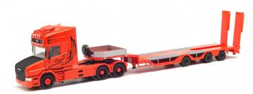 "Herpa 313070  Scania Hauber TL Tieflade-Sattelzug ""Spezialtransporte Sturm"""