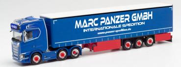 """Herpa 313247  Scania CS 20 HD 6x2 Gardinenplanen-Sattelzug """"Marc Panzer"""