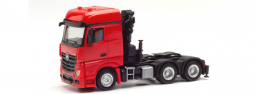 Herpa 313315  Mercedes-Benz Arocs 6x4 Zugmaschine mit Ladekran, rot