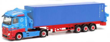 Herpa 313919  Mercedes Benz Actros Container-Seitenlader
