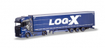 "Herpa 310413  Scania CS 20 HD Lowliner-Sattelzug ""Log-X / I´m the best""(CZ)"